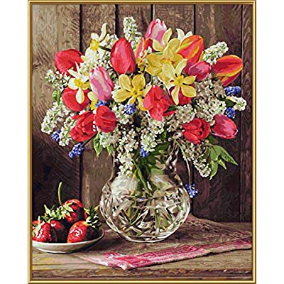 Noris Spiele Schipper Paint by Numbers – 609130790 A Greeting from The Cottage Garden, 40 x 50 cm Multi-Coloured: Toys & Games