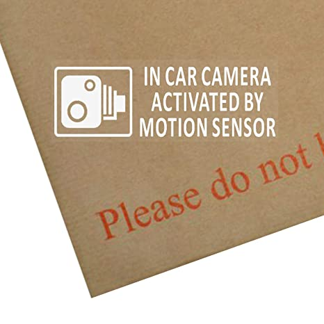 5 Pegatinas de seguridad para vehículo, advertencia de cámara CCTV activada
