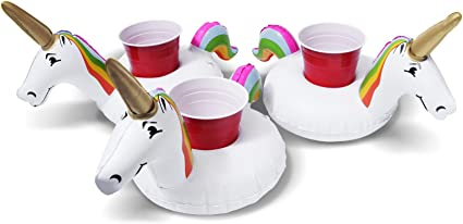 Float Your Drinks 3 Pack GoFloats Inflatable Ice Dragon Drink Holders