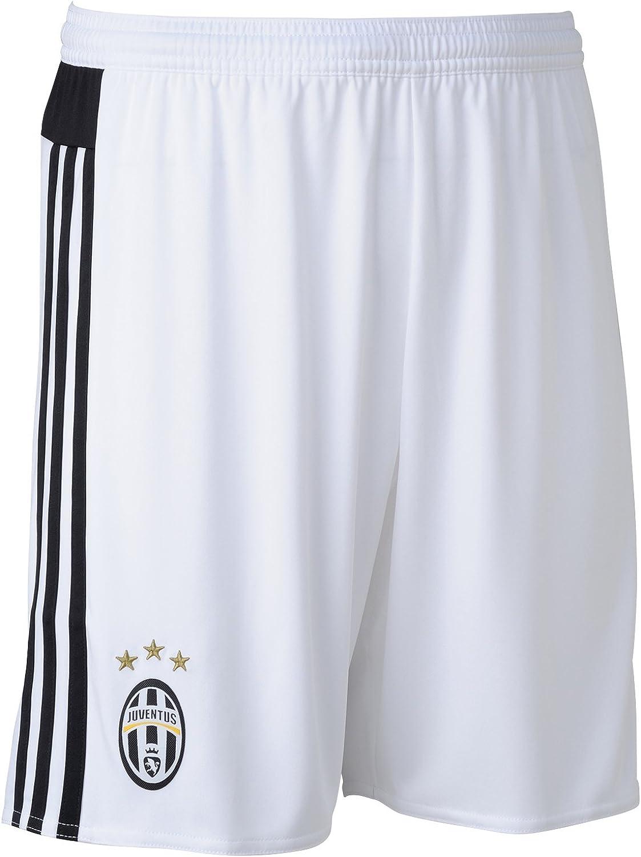 adidas Juve H SHO - Pantalón Corto para Hombre, Color Blanco/Negro