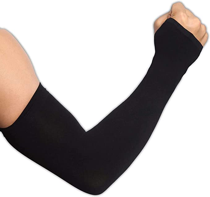 Top Souls 2 Pairs Arm Sleeves UV Sun Protection Cooling Compression Arm Sleeves with Handcover for Men /& Woman Stretch Sport Outdoor
