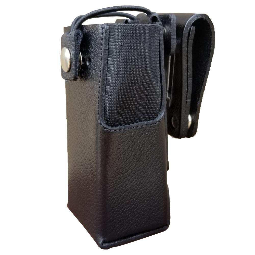 Case Guys MR8550-3BW Hard Leather Swivel Belt Loop Holster Case with Bungee Cord for Motorola XPR 7350e Two Way Radios
