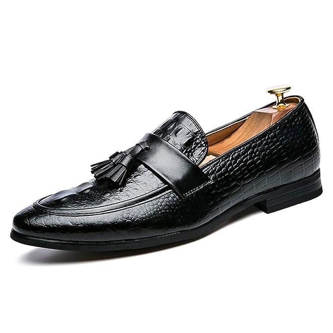 FHTD Zapatos De Vestir Para Hombres Otoño/Invierno Casual/Comfort Mocasines Y Slip-Ons Zapatos: Amazon.es: Ropa y accesorios