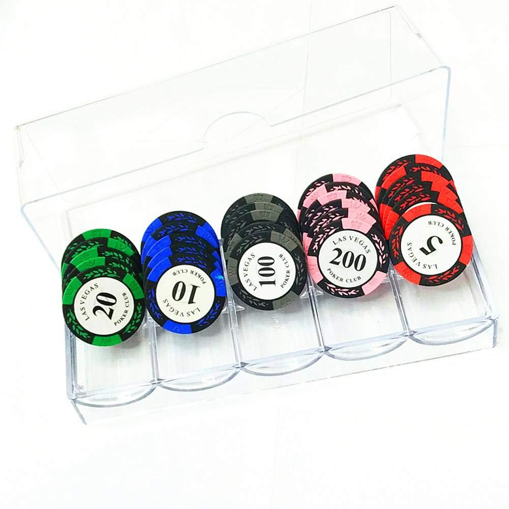 Szseven Bo/îte De Jetons P/épites Acryliques Fines Bo/îte Transparente Casino Jeu De Puces De Stockage Cas Jeux De Casino Bo/îte /À Jetons