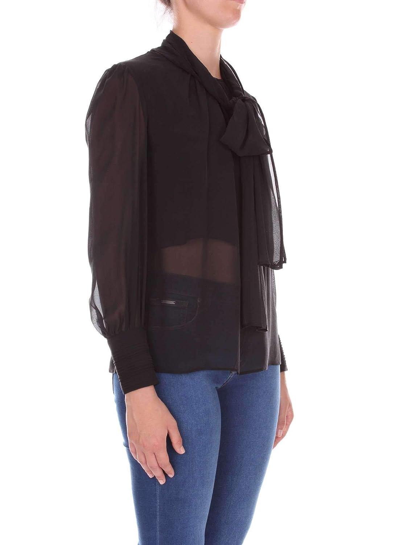 Ca04281e2110 Negro Amazon Camisa es Elisabetta Franchi Seda Mujer tqETSwC