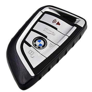 Brillo suave delgada carcasa sin llave Smart Key Fit BMW ...