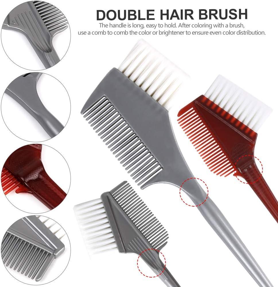 Hair Color Brush and Bowl Set, YGDZ Hair Dye Brush and Bowl Set, Professional Salon Hair Coloring Dyeing Kit, 4pcs Hair Tint Brushes & 2pcs Mixing Bowls: Kitchen & Dining