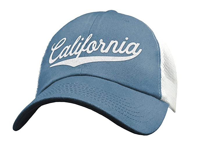 e816946016abd Amazon.com  State of California Trucker Hat Baseball Cap - Sports Snapback  Mesh Low Profile  Handmade