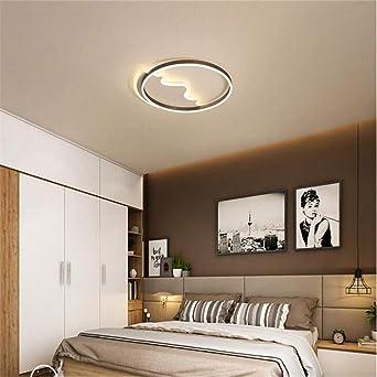Anelli neri LED lampadario luci moderne soggiorno sala da ...