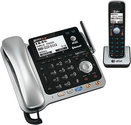 Att TL86109 DECT 6.0 dos líneas con cable/sistema de teléfono inalámbrico con Bluetooth (TM) tecnología ATT tl8610: Amazon.es: Electrónica