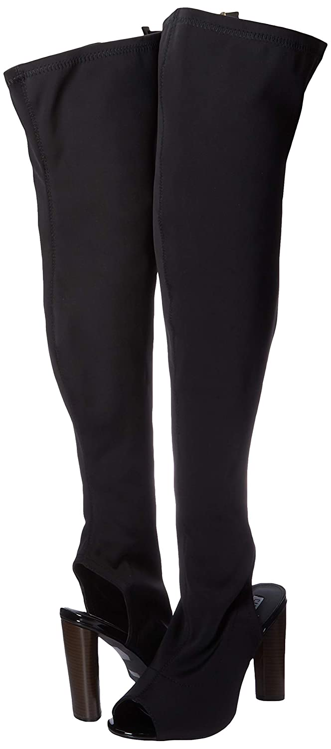 Cape Robbin Connie-1 Womens Lycra Over The Knee Thigh High Peep Toe Boots