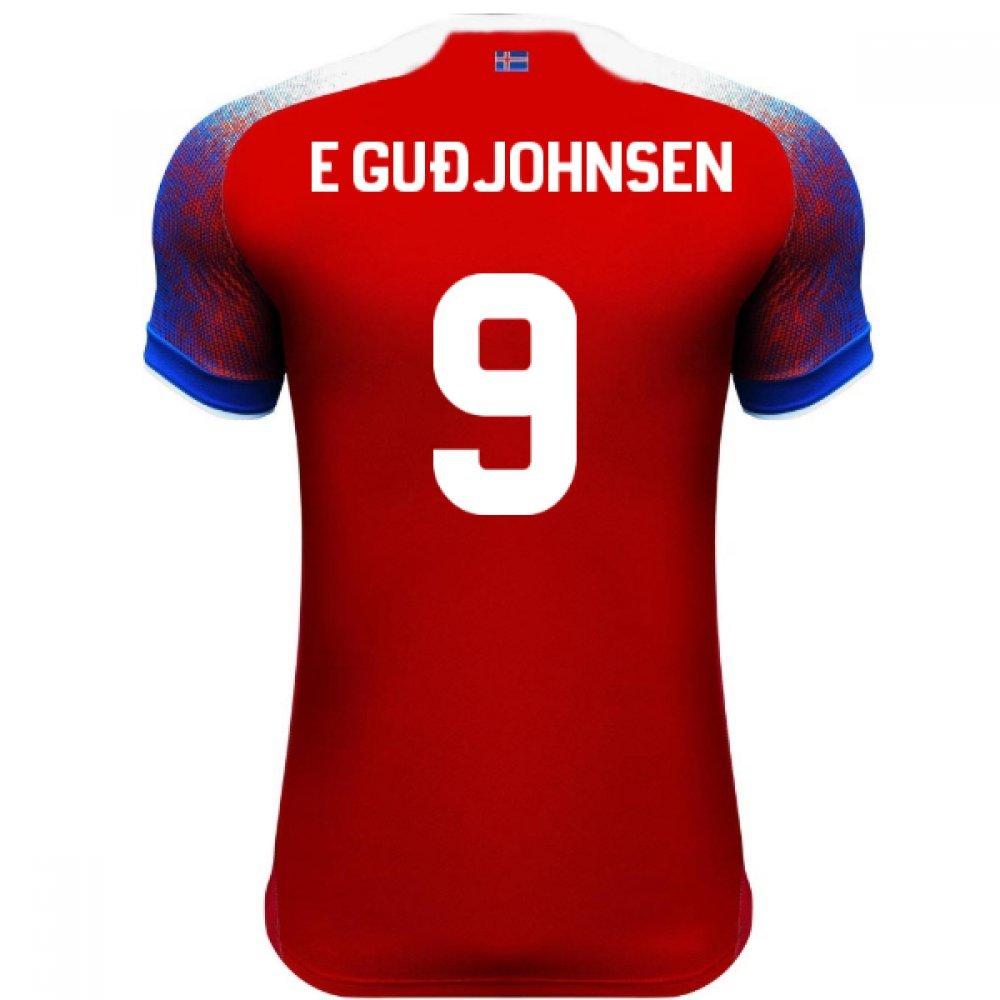 2018-2019 Iceland Third Errea Football Soccer T-Shirt Trikot (Eidur Gudjohnsen 9)