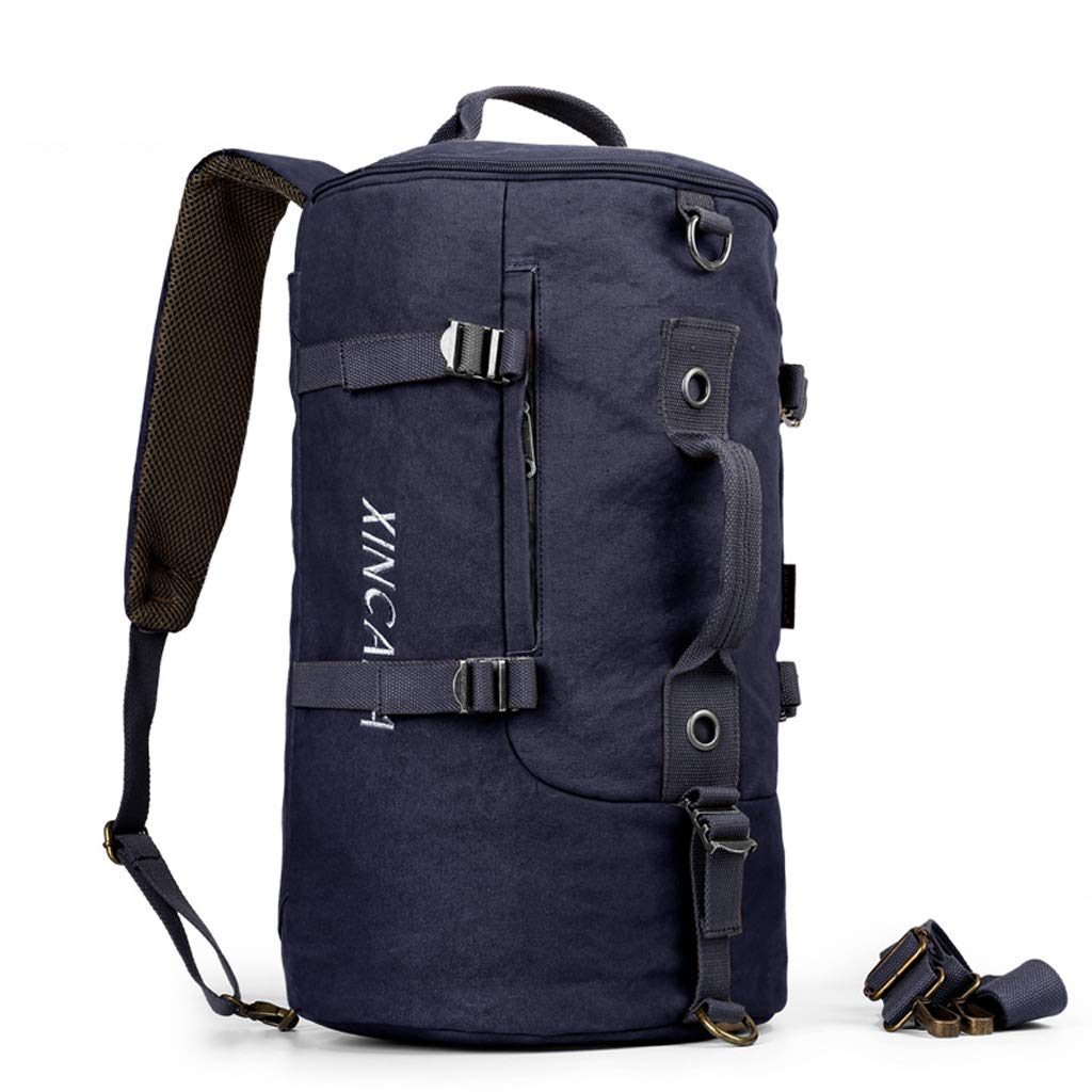 WCJ Mens Backpack Multi-Function Portable Canvas Bag Travel Backpack Sports Outdoor Travel Bag Large Capacity