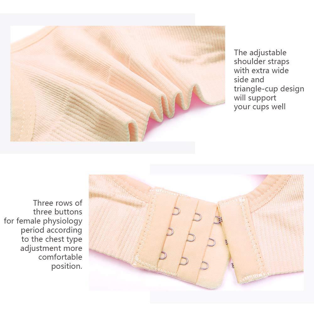 Desirelove Nursing Bra 3 Pack Maternity Seamless Bras with Removable Spill Prevention Pads