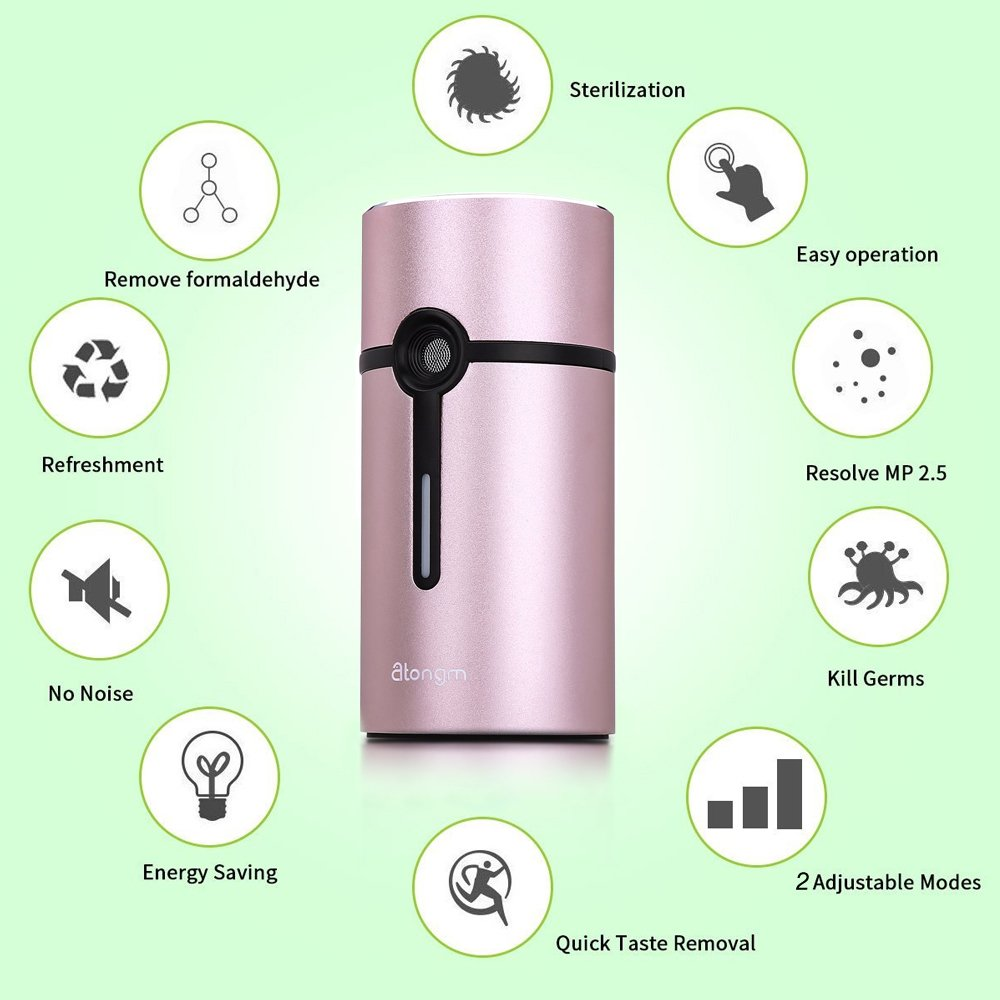 Activated Oxygen Refrigerator Deodorizer Filter. Mini Size Multi-purpose Sterilizing Deodorizer Purifier for Fridge Cooler Chamber, Shoe Closets, Cabinets, Wardrobes, Car, Travelling cases, etc
