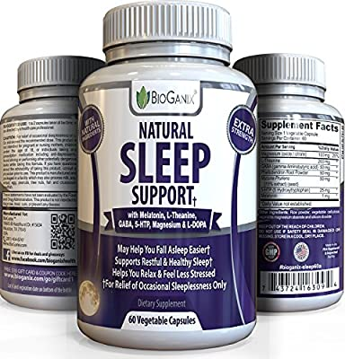 Best Natural Sleeping Aid Pills - Extra Strength OTC Herbal Formula - Sleep Better & Get Relief From Insomnia, Anxiety, Stress & Panic Attacks /w Melatonin, 5-HTP, Magnesium, L-Theanine, GABA & L-DOPA