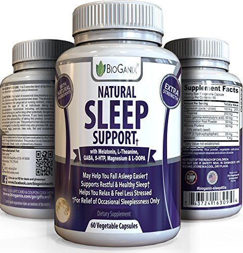 Meilleur sommeil naturel aide pilules - extra-forts OTC Herbal Formula - mieux dorment & obtenir un soulagement de l'insomnie, anxiété, Stress & panique mélatonine/w, 5-HTP, magnésium, L-théanine, GABA & L-DOPA