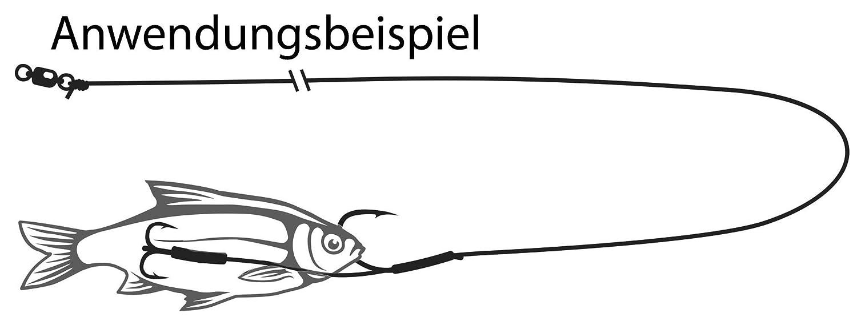 Wallerrig Black Cat Bojen und Boat-Rig 140cm 100kg Welsmontage Welsrig Zum Bojenangeln Wallervorfach