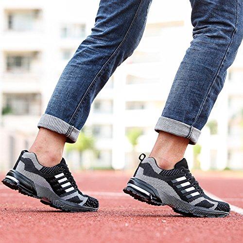 B XIANV Basses Sneakers homme Schwarz 4wFI0znwqr
