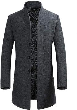 冬のウールブレンドコートメンズファッションビジネスカジュアルウールオーバーコートロングセクションウールジャケット