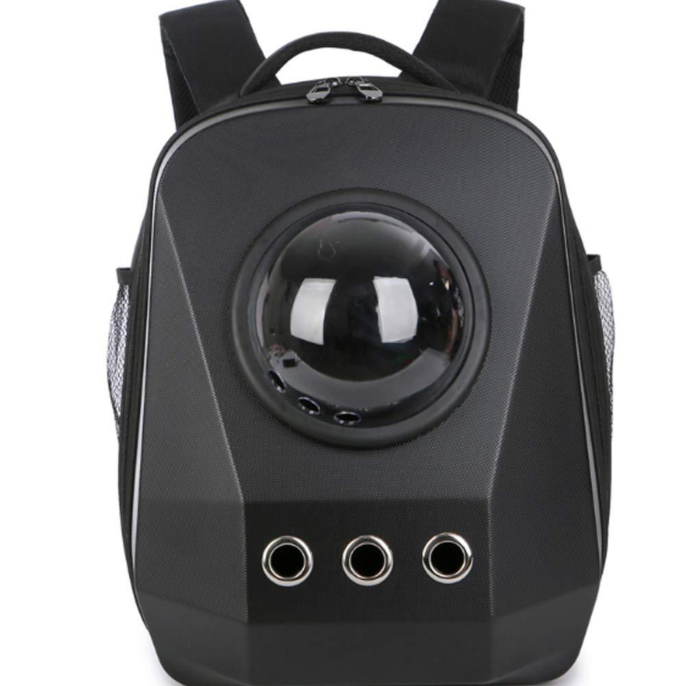 Matteblack Diamond Traveler Pet Carrier Shoulder Backpack,Cat Dog Bubble Backpack with Pgoldus Ventilation for Small Cat, Dog
