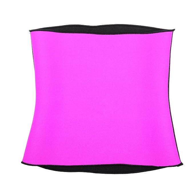 1d400d5770 Waist Trainer Belt for Weight Loss Women Hot Body Shaper Trimmer Corset  Sauna Neoprene Cincher Pink