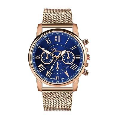 BBestseller Relojes Mujeres,Moda Accesorios Cuarzo Acero Inoxidable Relojes Fecha Reloj de Pulsera Casual Simple para Mujer