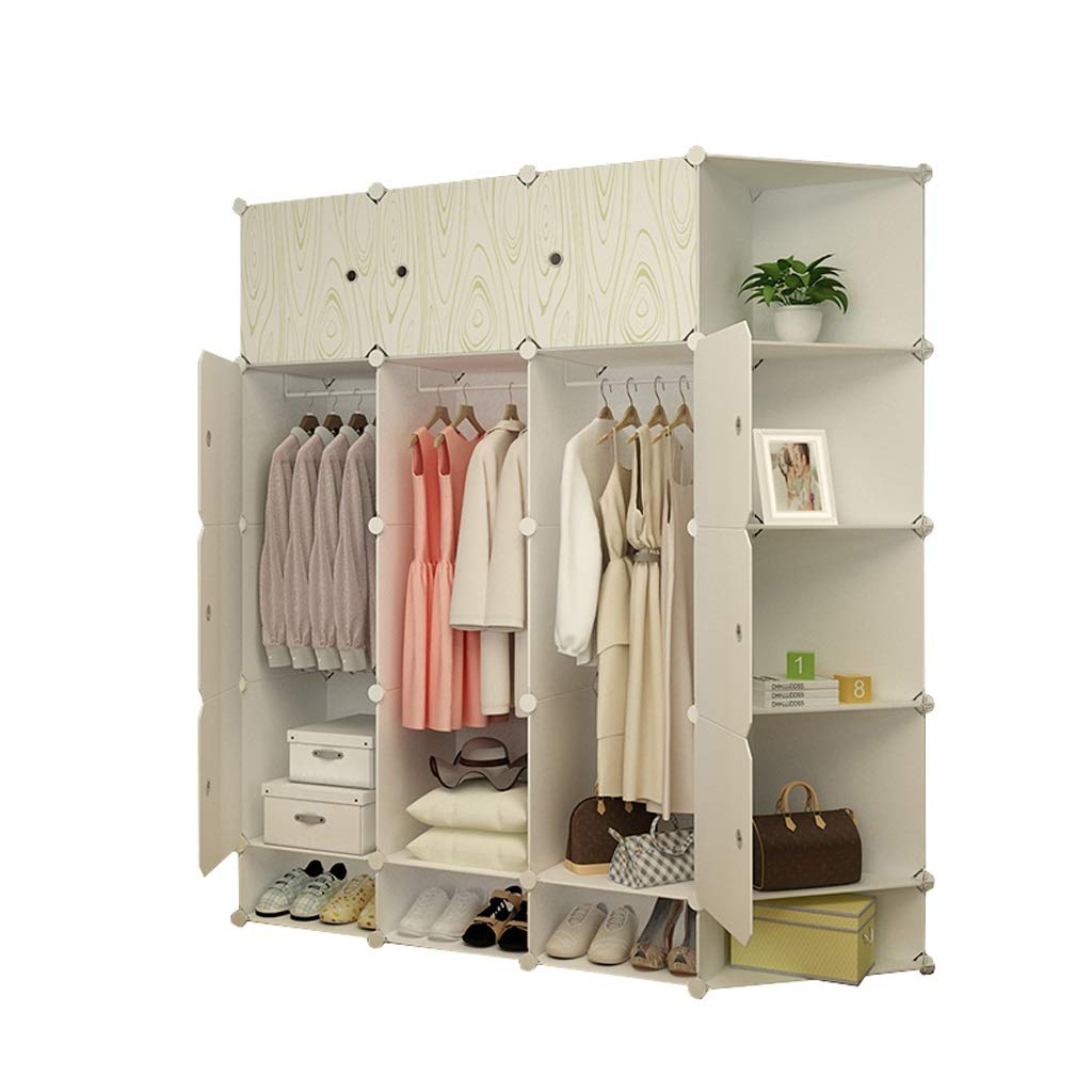 Hanging Wardrobe Clothes Storage Box, Modern Portable Wardrobe, Simple Assembly DIY Wardrobe, Storage Space Saving - L147cm × W47cm × H165cm by Ace zhyg