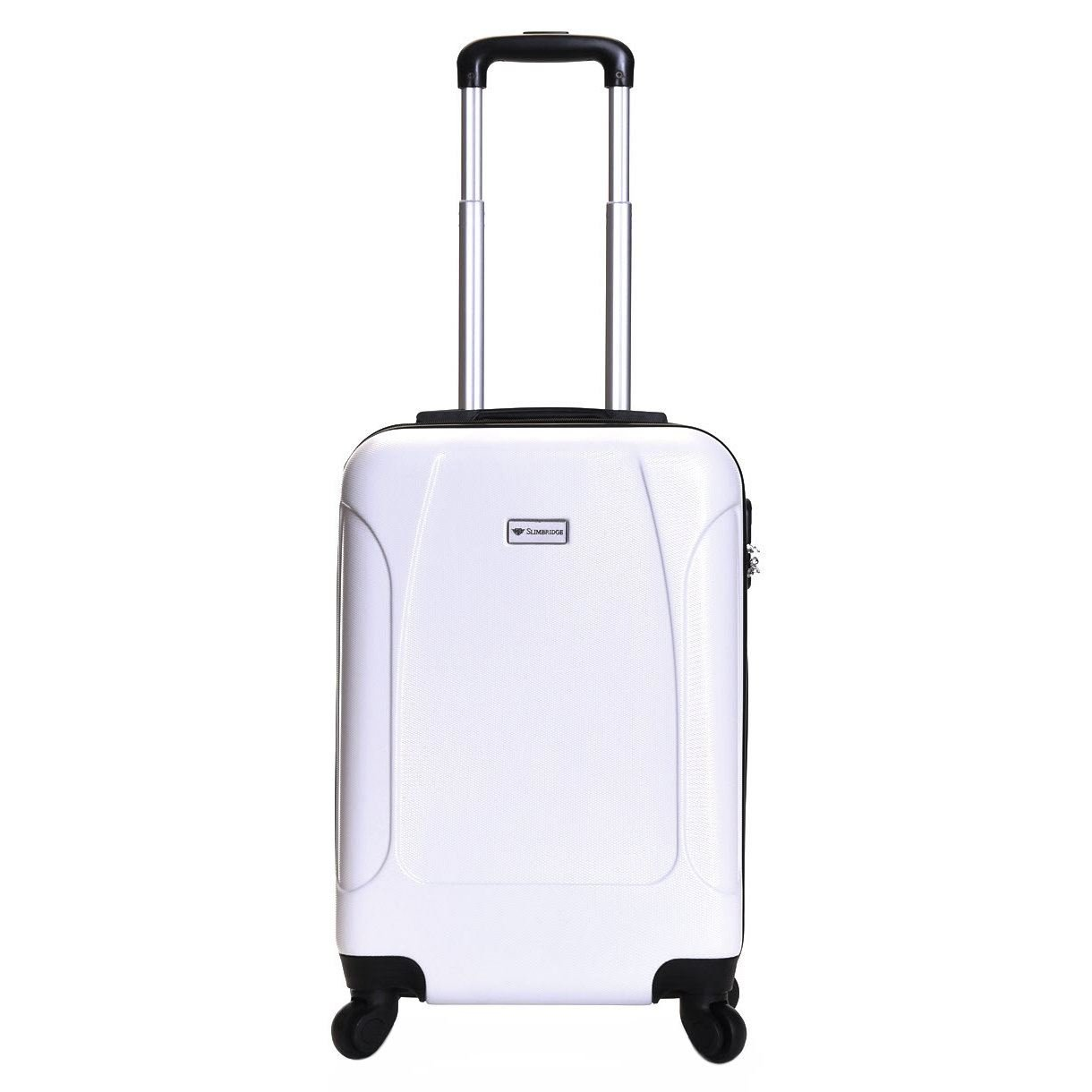 Slimbridge Alameda Super Lightweight ABS Hard Shell Travel Carry On Cabin Hand Luggage Suitcase with 4 Wheels, Approved for Ryanair, EasyJet, British Airways, Virgin Atlantic, Flybe and More, Black Karabar Ltd PAL00038
