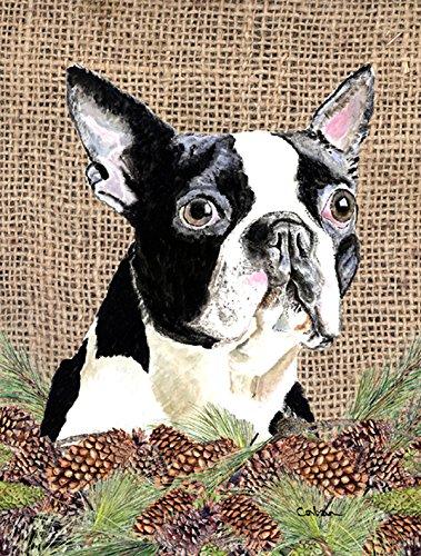 Carolineu0027s Treasures SC9051CHF Boston Terrier Flag Canvas, Large, Multicolor
