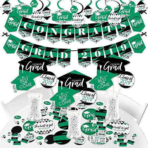 Green Grad - Best is Yet to Come - 2019 Green Graduation Party Supplies Party Decoration Kit - Fundle Bundle