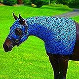 Sleazy Sleepwear for Horses Large Bubbles Print Zipper Stretch Hood