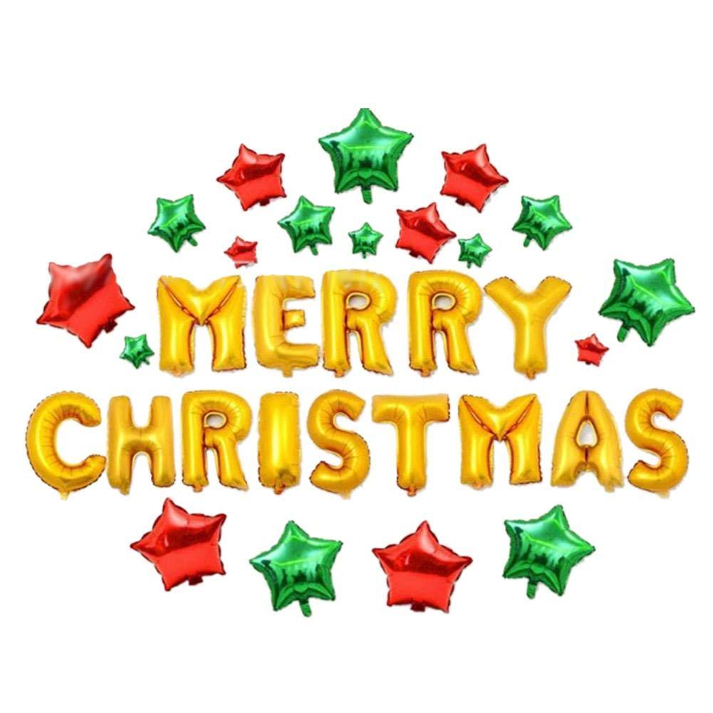 Luckycycクリスマスバルーン 20個 クリスマスサンタバルーンセット お祝いの雰囲気セット クリスマスパーティーデコレーションバルーン   B07K2DTMNJ