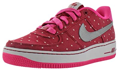 Nike Air Force 1 Big Kids Girls Court Sneakers Shoes Pink Size 6.5 c2c1c2c3a