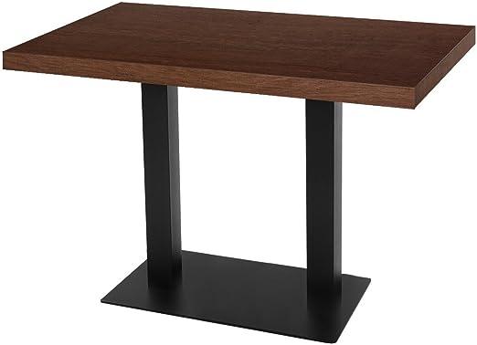GGM Muebles Bistro Mesa | 120 x 70 cm | Nogal | Madera | Bistro ...