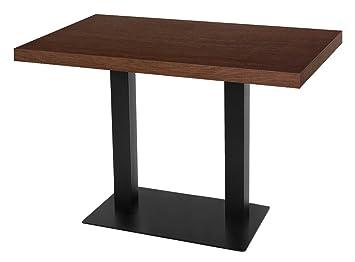 GGM Muebles Bistro Mesa | 120 x 70 cm | Nogal | Madera ...