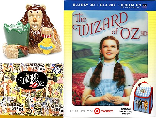 3D Musical The Wizard of Oz Movie Exclusive Blu Ray Lunchbag & Cowardly Lion Salt & Pepper Shakers Figurine Collectible Pack Wonderful Courage set Oh - Target Chicago Hours
