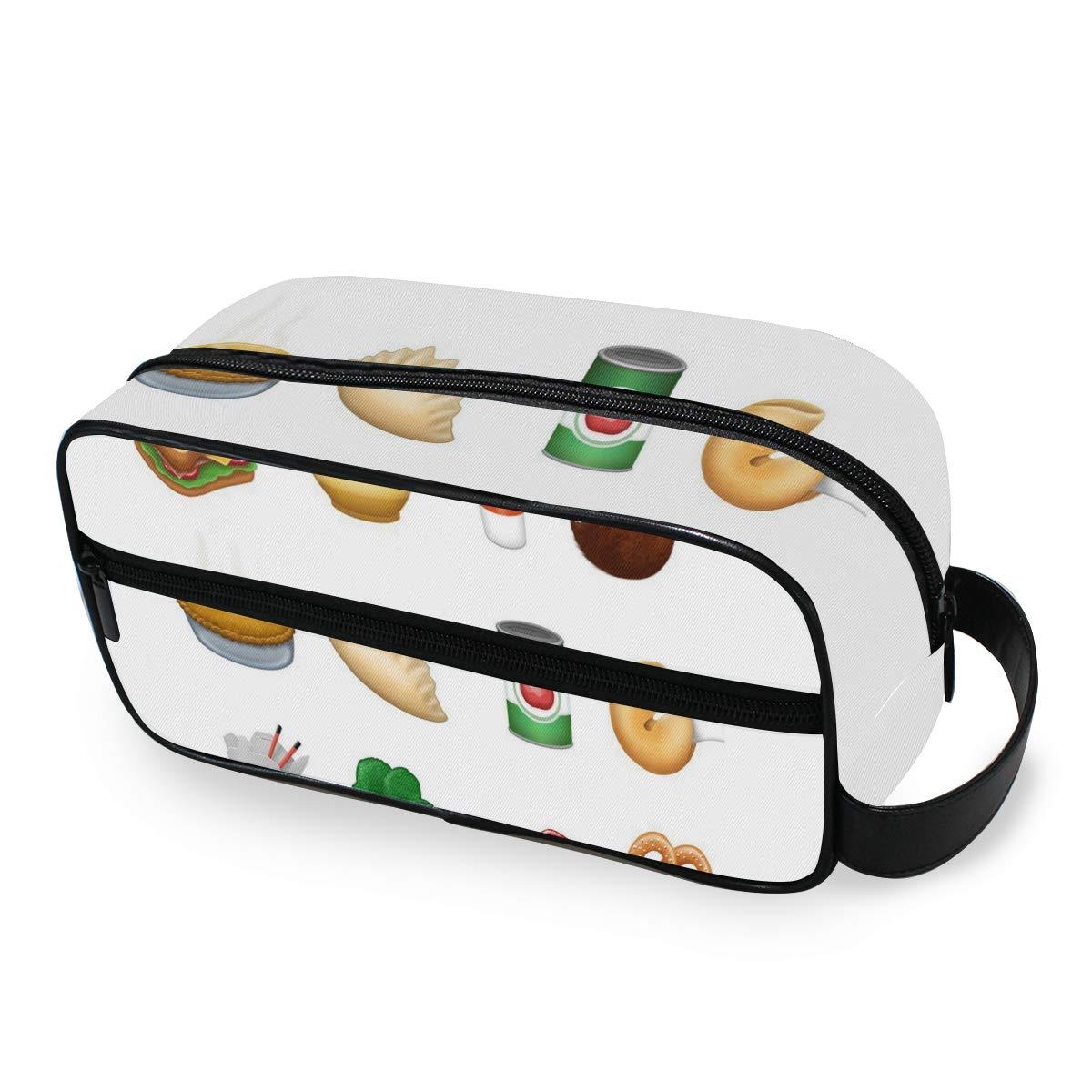 Portable Travel Toiletry Bag,New Food Pie Dumpling Sandwich Chinese Take Cosmetic Organizer for Men Women Multifunctional Bathroom Shower Shaving Bags