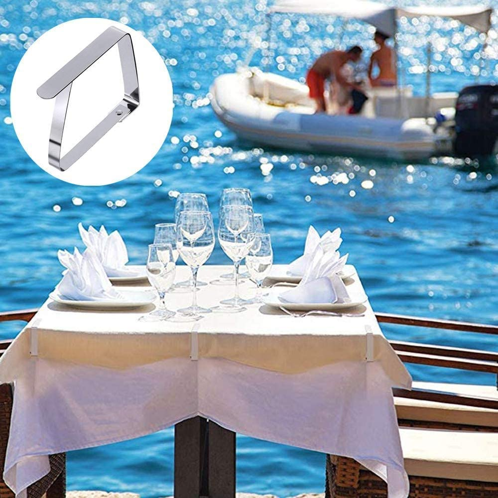 AnvFlik Tablecloth Clips 15 Pack Thickened Stainless Steel Table Cover Clamps Holder for Picnic BBQ Wedding DIY Party