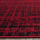 red and black - Safavieh Adirondack Collection ADR116F Red and Black Modern Abstract Area Rug (2'6