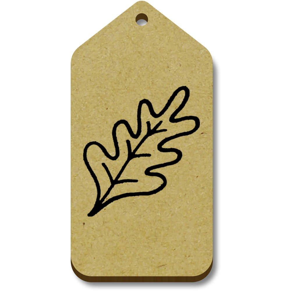 10 x 'Oak Leaf' 66mm x 34mm Gift / Luggage Tags (TG00057405) new