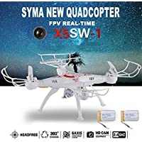 Cewaal 2 Battery 2.4G 2MP 6-Axis RC Quadcopter Kits FPV Drone with Live Video Camera Remote Control Drone Helicopter RC