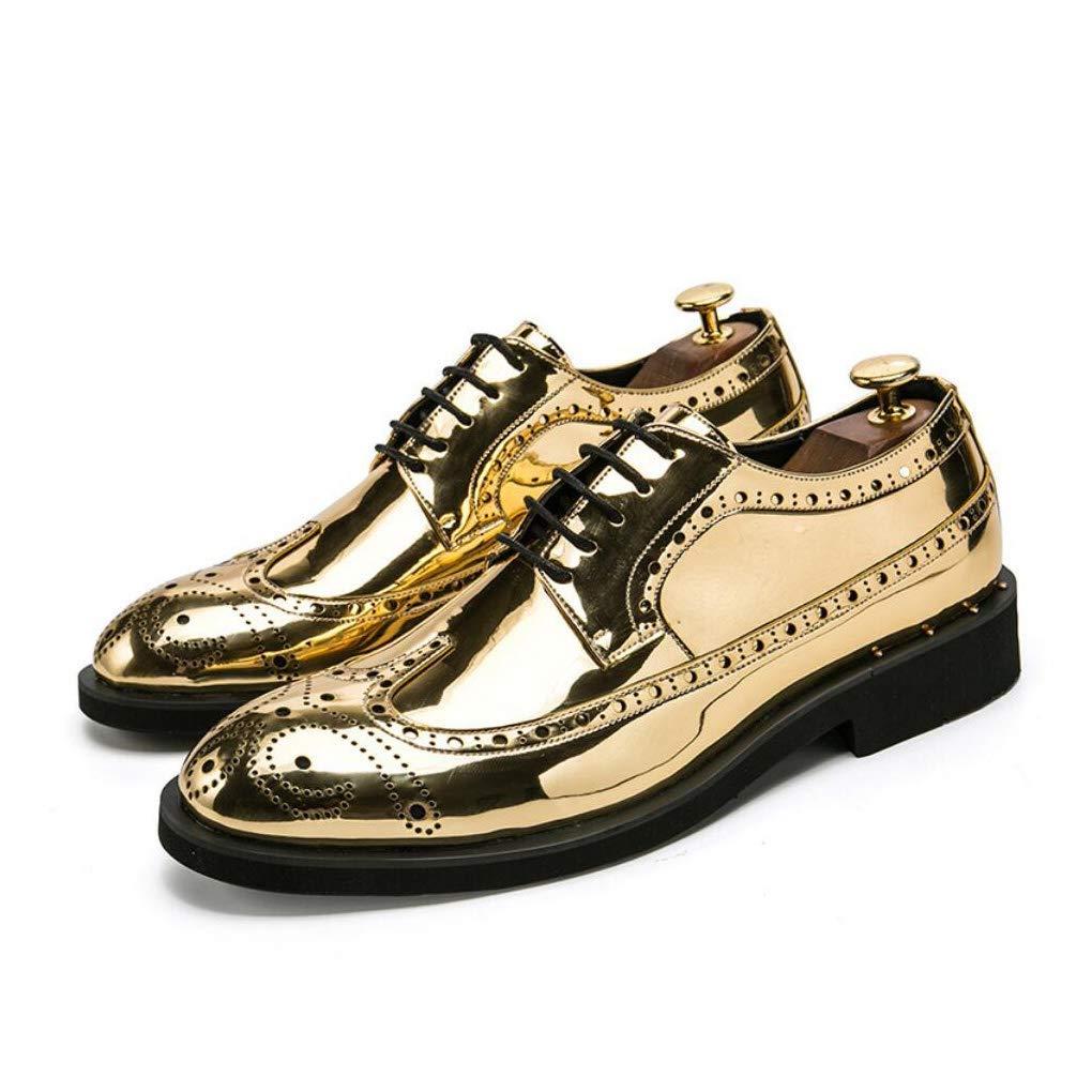 FuweiEncore Herrenschuhe Leder Frühling Herbst Spitz Schuhe Vintage Schuhe Lace-up Lace-up Schuhe für Hochzeit Büro & Karriere Party & Abend (Farbe   C Größe   42) (Farbe   B Größe   39) 5ff151