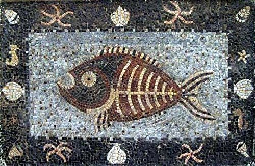Fish Mosaic With Nautical Broder by Mozaico