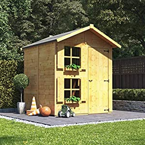 Mad-Dash-BillyOh-Peardrop-Junior-Two-Storey-Childrens-Wooden-Playhouse-6-x-5-with-Bunk