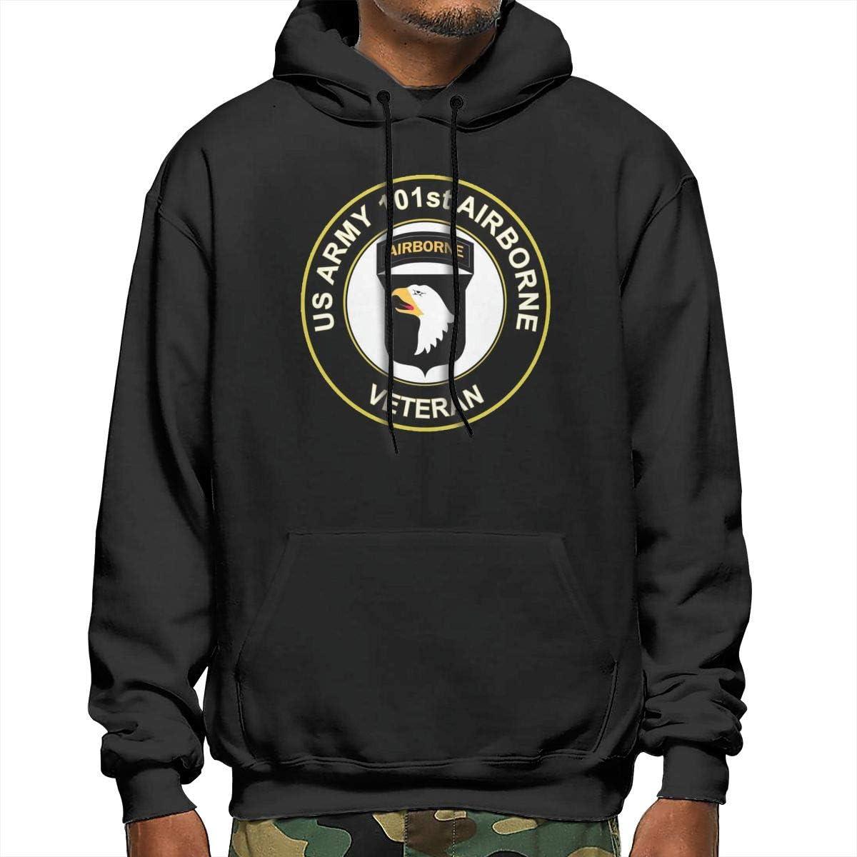 Sanda U.S Army Veteran 101st Airborne Division Mens Hooded Sweatshirt