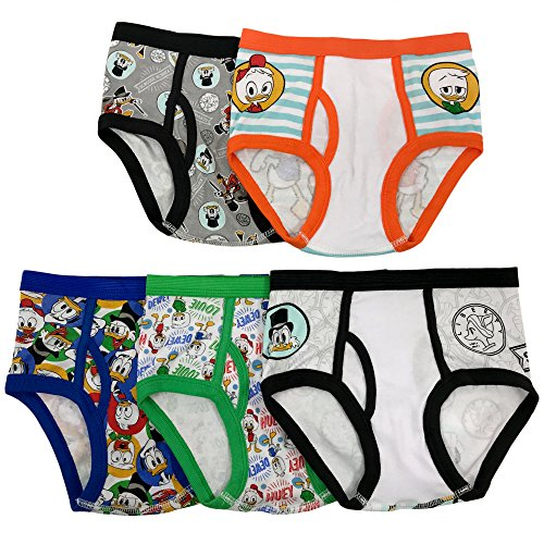 (Disney Big Boys' 5-Pack Underwear Briefs, Duck Tales, 8)