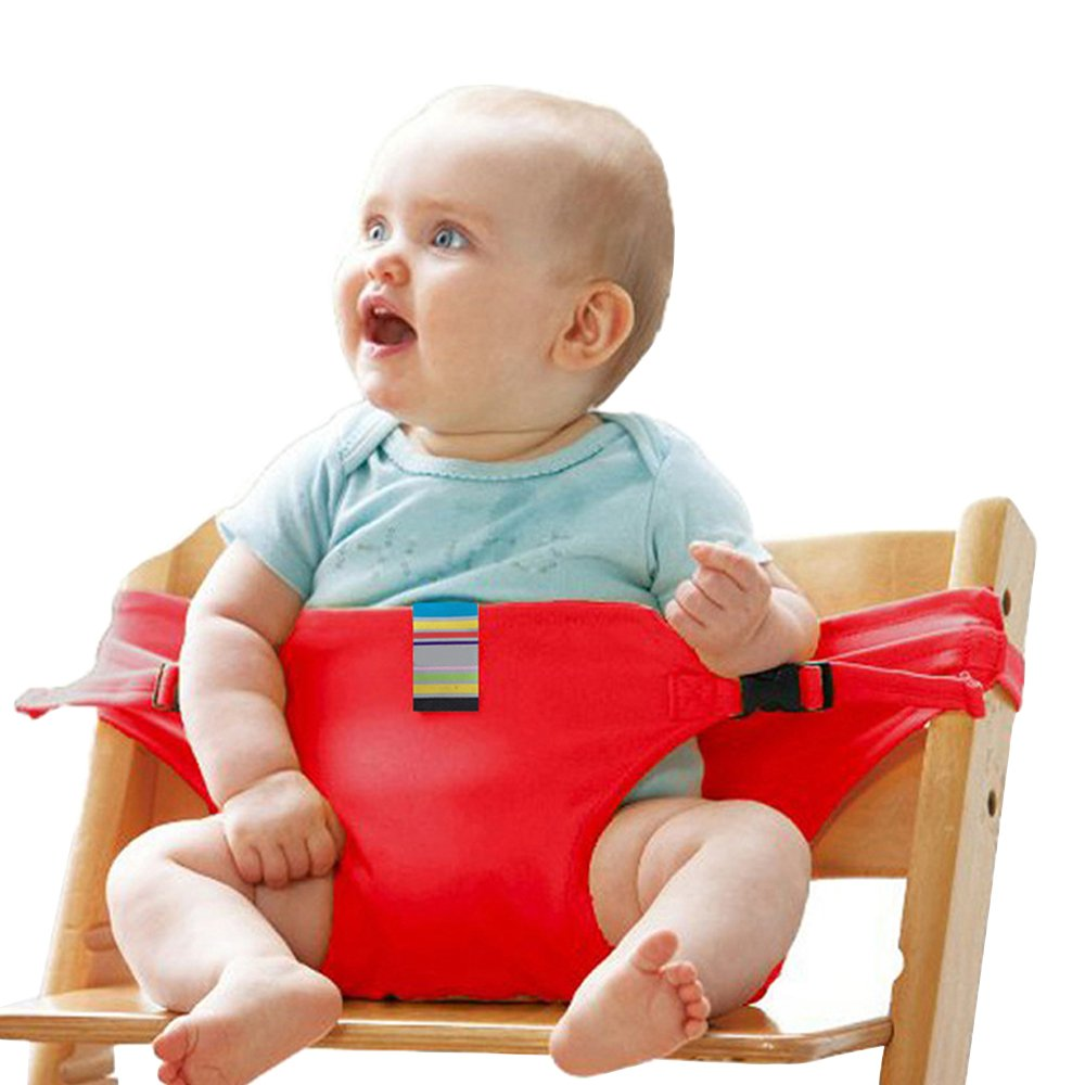 Black Portable Baby Feeding Chair Belt-Toddler Safety Harness Baby Safe Seating Wrap Shopping Cart Outdoor Travel High Chair Booster Safety Strap #81086