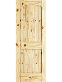 two panel knotty archtop v with ugroove door knotty pine