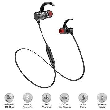 3d256d72a7c Bluetooth Headphones,Best Wireless Sports Earphones w/ Mic IPX4 Waterproof  HD Stereo Sweatproof In